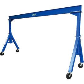 Vestil Steel Gantry Crane AHS-2-15-12 Adjustable Height 2000 Lb. Capacity