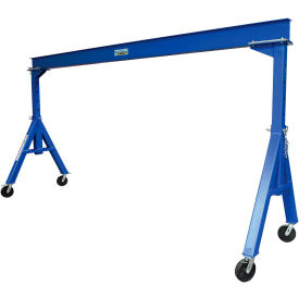 Vestil Steel Gantry Crane AHS-4-15-14 Adjustable Height 4000 Lb. Capacity