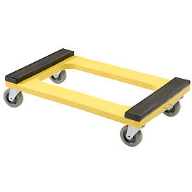 """Plastic Dolly with Rubber Padded Deck - 4"""" Casters 1000 Lb. Capacity"""