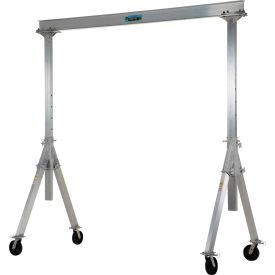Vestil Aluminum Gantry Crane AHA-2-8-10 Adjustable Height 2,000 Lb. Capacity