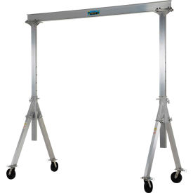 Vestil Aluminum Gantry Crane AHA-2-10-10 Adjustable Height 2,000 Lb. Capacity