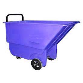 Bayhead Products Blue Light Duty 1/3 Cubic Yard Tilt Truck 275 Lb. Capacity