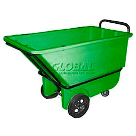 Green Heavy Duty 1/3 Cubic Yard Tilt Truck 1200 Lb. Capacity