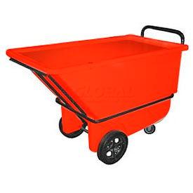 Bayhead Products Red Heavy Duty 1/3 Cubic Yard Tilt Truck 1200 Lb. Capacity