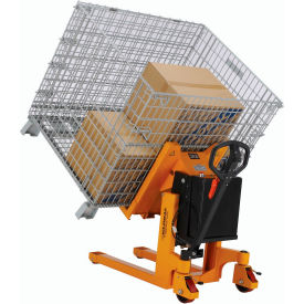 Battery Powered Portable Container, Pallet & Skid Tilter 2200 Lb. Capacity