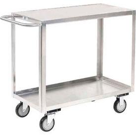 Jamco Stainless Steel Stock Cart XB236 2 Shelves Flush Top Shelf 36x24
