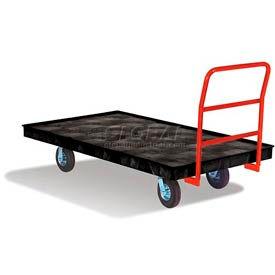 Rubbermaid® FG9T1100BLA Plastic Deck Platform Truck 70 x 40 1000 Lb. Capacity