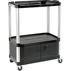 Rubbermaid Audio Visual Cart 36 x 20 x 48 With Locking Cabinet