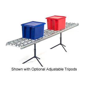Omni Metalcraft Steel Skate Wheel Conveyor Straight Section WSHS3-24-16-5-LL