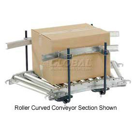 Steel Guard Rail Kit (Pair) For 5' Straight Skate Wheel Conveyor