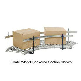 Steel Guard Rail Kit (Pair) for Omni 90 Degree Curved Roller Conveyor