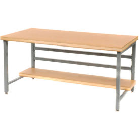 """Stationary 60"""" X 30"""" Shop Top Square Edge Workbench - Gray"""