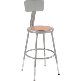 Interion™ Steel Shop Stool With Manual Height Adjustment - Pkg Qty 2