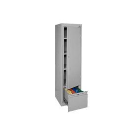Sandusky System Series Storage Cabinet with File Drawer HADF171864 Single Door - 17x18x64, Gray
