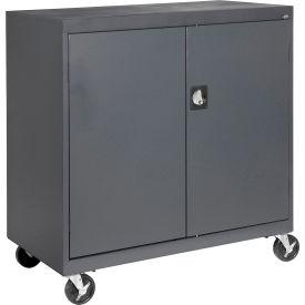 Sandusky Mobile Work Height Storage Cabinet TA11361830 Double Door - 36x18x30, Charcoal