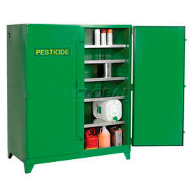 Pesticide Cabinet Self-Close Double Doors Vertical Storage