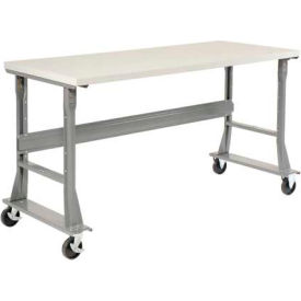 """72""""W x 36""""D Mobile Workbench - ESD Safety Edge - Gray"""