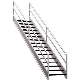 """Staircase Wire Mesh 36""""W Closed Tread And Riser"""