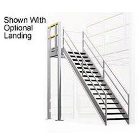4' X 4' Stair Landing For Mezzanine - Osha 2 Rail