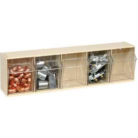 Quantum Tilt Out Storage Bin QTB305- 5 Compartments Ivory