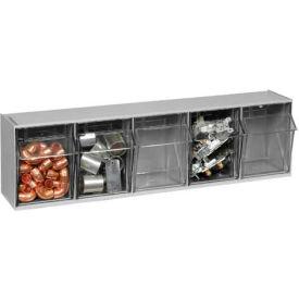 Quantum Tilt Out Storage Bin QTB305- 5 Compartments Gray