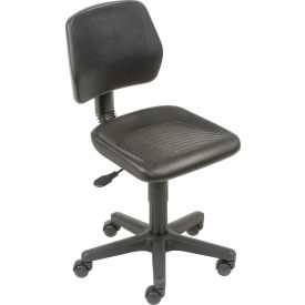 Industrial Polyurethane Pneumatic Height Adjustable Chair Black
