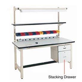 "12""H Lockable Stacking Drawer- Beige"
