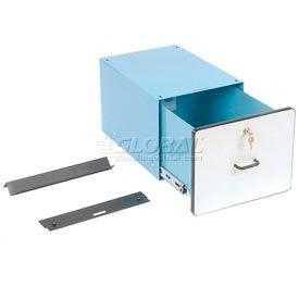 """12""""H Lockable Stacking Drawer- Blue"""