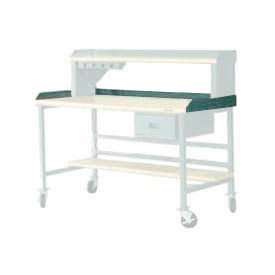 """72""""W X 30""""D Back & End Stops - Gray"""
