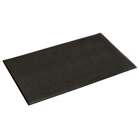 Ribbed Surface Mat 3 Foot Wide 60 Foot Roll Black