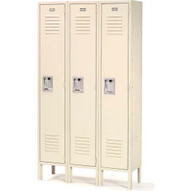 Infinity Locker Single Tier 12x12x60 Tan 3 Wide Ready To Assemble