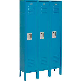 Infinity Locker Single Tier 12x15x60 3 Door Ready To Assemble Blue