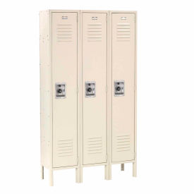 Infinity™ Locker Single Tier 12x15x60 3 Door Ready To Assemble Tan