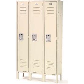 Infinity™ Locker Single Tier 12x12x72 3 Door Ready To Assemble Tan