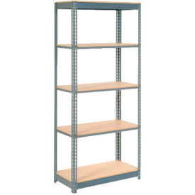 "Heavy Duty Shelving 36""W x 12""D x 84""H With 5 Shelves, Wood Deck"
