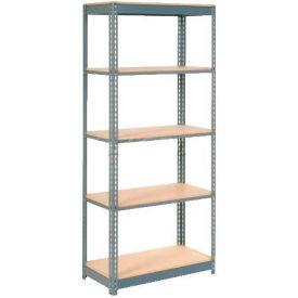 "Heavy Duty Shelving 36""W x 18""D x 96""H With 5 Shelves, Wood Deck"