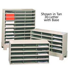 "30 Compartment Steel Literature Sorter with base - 42""H Black"