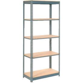 "Heavy Duty Shelving 36""W x 18""D x 60""H With 5 Shelves, Wood Deck"