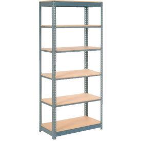 "Heavy Duty Shelving 36""W x 12""D x 60""H With 6 Shelves, Wood Deck"