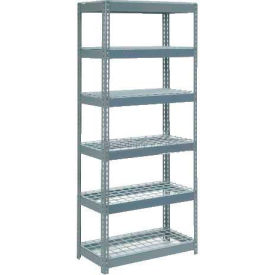 """Extra Heavy Duty Shelving 36""""W x 12""""D x 84""""H With 6 Shelves, Wire Deck"""