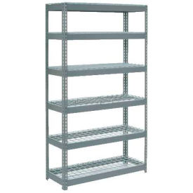"""Extra Heavy Duty Shelving 48""""W x 12""""D x 84""""H With 6 Shelves, Wire Deck"""