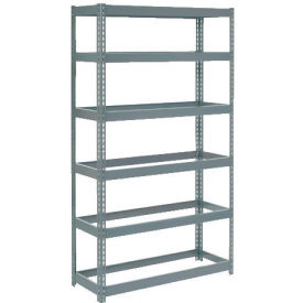 """Extra Heavy Duty Shelving 36""""W x 18""""D x 96""""H With 6 Shelves, No Deck"""