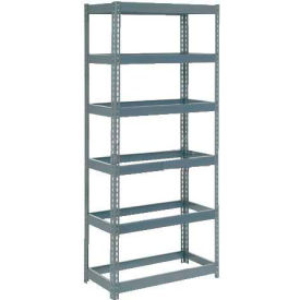 """Extra Heavy Duty Shelving 36""""W x 24""""D x 96""""H With 6 Shelves, No Deck"""