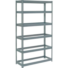 "Extra Heavy Duty Shelving 48""W x 18""D x 96""H With 6 Shelves, No Deck"
