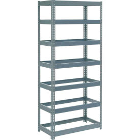 "Extra Heavy Duty Shelving 36""W x 24""D x 96""H With 7 Shelves, No Deck"