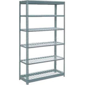 """Heavy Duty Shelving 48""""W x 24""""D x 96""""H With 6 Shelves, Wire Deck"""