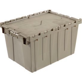 Distribution Container With Hinged Lid 23-3/4x19-1/4x12-1/2 Gray