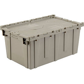 Plastic Storage Container Attached Lid Dc2717 12 27 3 16 X