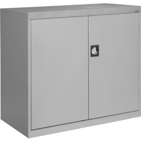 Sandusky Elite Series Counter Height Storage Cabinet EA2R462442 - 46x24x42, Gray