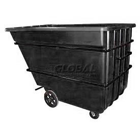 Black Heavy Duty 2.2 Cubic Yard Tilt Truck 2500 Lb. Capacity